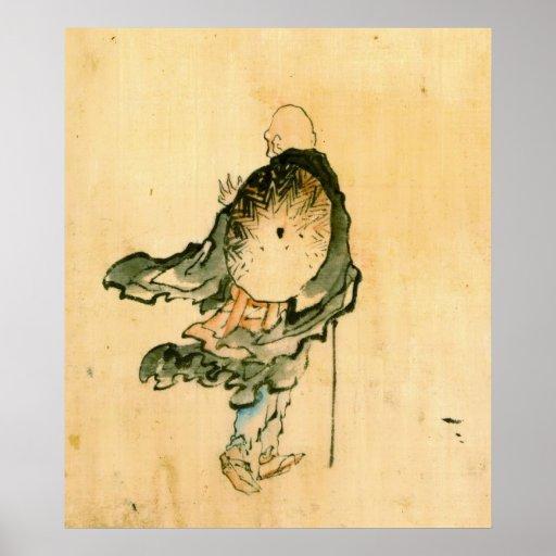 Monje que vaga 1840 poster