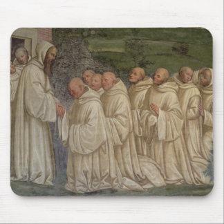 Monjes benedictinos, a partir de la vida de St. Be Tapetes De Ratón