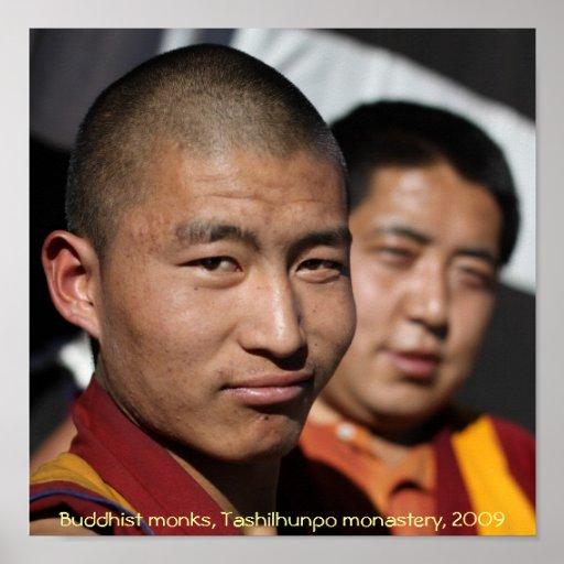 Monjes budistas, monasterio de Tashilhunpo… Poster