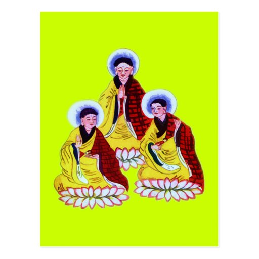 Monjes budistas tarjetas postales