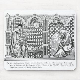 Monjes del matemático: uno que enseña al globo tapetes de ratones