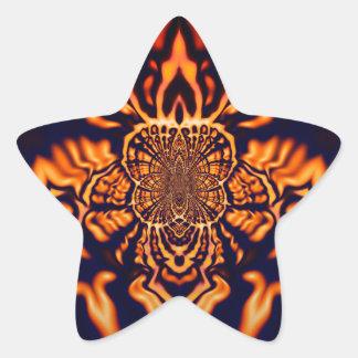 Monjes que reflexionan geometría sagrada calcomanía cuadrada personalizada