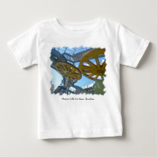 Monjuic Cable Car Gears, Aerial Tramway, Barcelona Baby T-Shirt