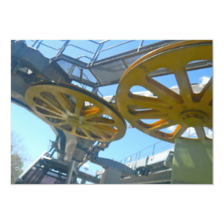 Monjuic Cable Car Gears, Aerial Tramway, Barcelona Invitation