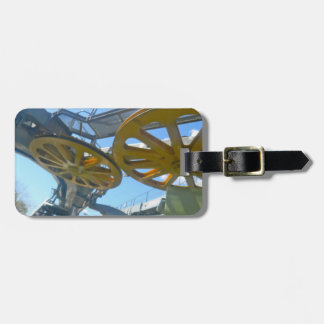 Monjuic Cable Car Gears, Aerial Tramway, Barcelona Travel Bag Tags