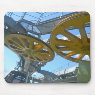 Monjuic Cable Car Gears, Aerial Tramway, Barcelona Mouse Pad