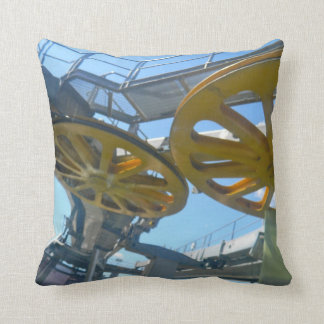 Monjuic Cable Car Gears, Aerial Tramway, Barcelona Pillow