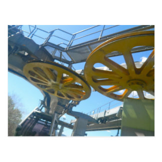 Monjuic Cable Car Gears, Aerial Tramway, Barcelona Postcard