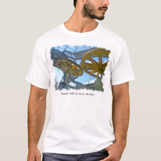 Monjuic Cable Car Gears, Aerial Tramway, Barcelona T-Shirt