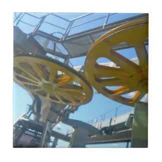 Monjuic Cable Car Gears, Aerial Tramway, Barcelona Tile
