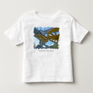 Monjuic Cable Car Gears, Aerial Tramway, Barcelona Toddler T-shirt