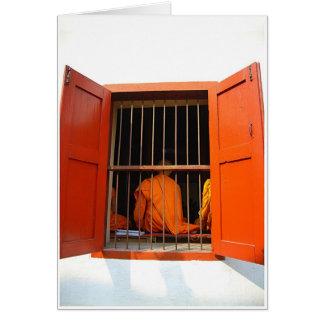 Monk at Window Greeting Card