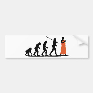 Monk Bumper Sticker