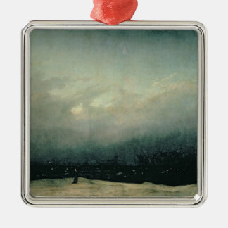 Monk by sea, 1809 metal ornament