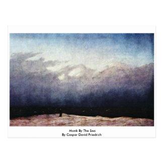 Monk By The Sea By Caspar David Friedrich Post Cards
