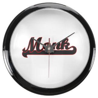 Monk Classic Job Design Aquarium Clock