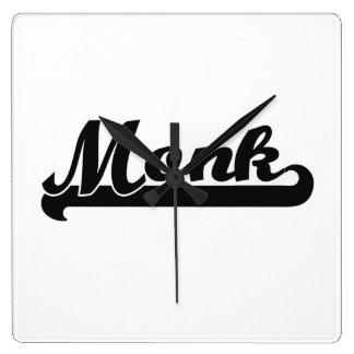 Monk Classic Job Design Square Wallclocks