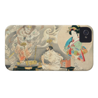 Monk Confronting A Demon iPhone 4 Cover