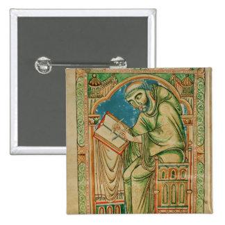 Monk Eadwine at work on the manuscript, Button