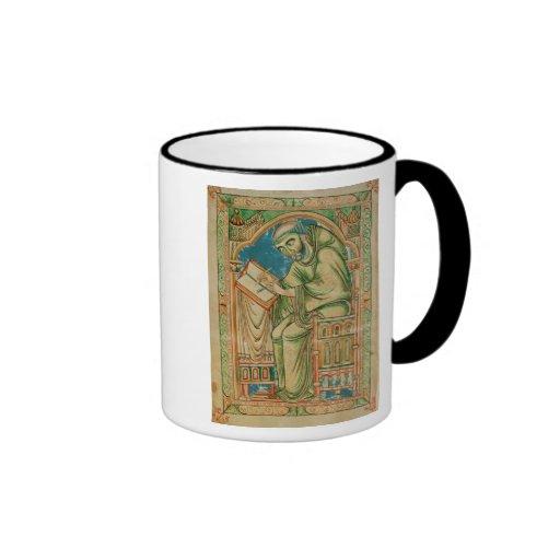 Monk Eadwine at work on the manuscript, Ringer Mug