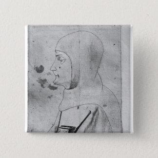 Monk, from the The Vallardi Album Pinback Button