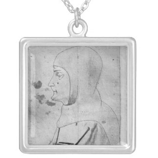Monk, from the The Vallardi Album Silver Plated Necklace