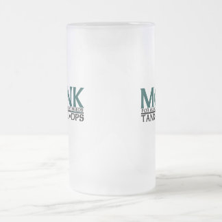 Monk Frosted Glass Beer Mug
