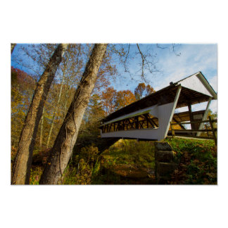 Monk Hollow Covered Bridge, Fairfield county, Ohio Poster