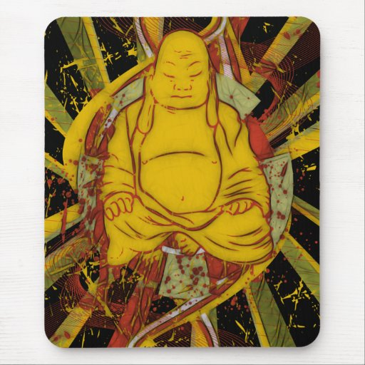 Monk in Meditation Mouse Pad