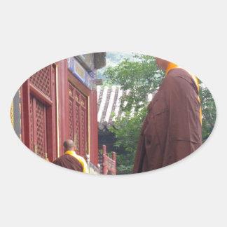 Monk Oval Sticker