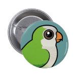 Monk Parakeet 2 Inch Round Button