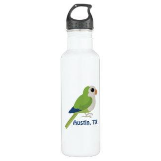 Monk Parakeet -Austin, Texas 24oz Water Bottle