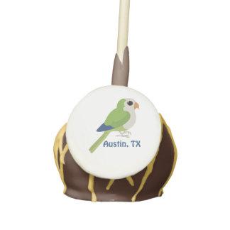 Monk Parakeet -Austin, Texas Cake Pops