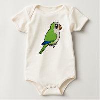 Birdorable Monk Parakeet Infant Organic Creeper
