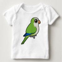 Birdorable Monk Parakeet Baby Fine Jersey T-Shirt