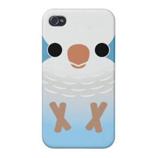 Monk Parakeet (Blue) Covers For iPhone 4