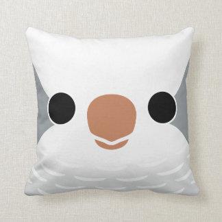 Monk Parakeet (Grey) Pillows