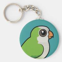 Birdorable Monk Parakeet Basic Button Keychain