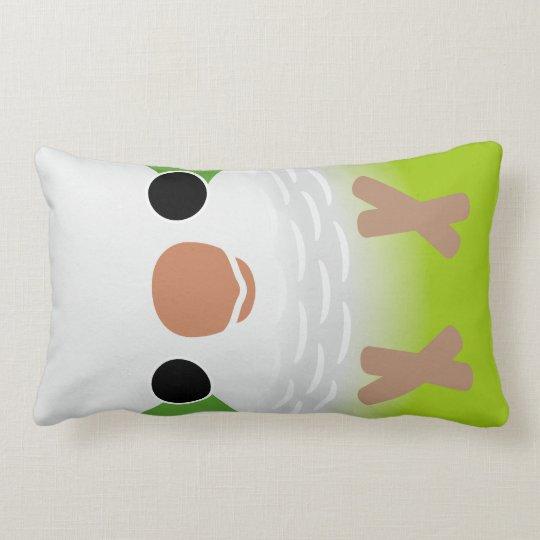 Monk Parakeet Lumbar Pillow