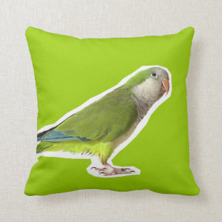 Monk Parakeet Throw Pillow