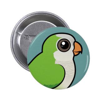 Monk Parakeet Pinback Buttons
