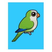 Birdorable Monk Parakeet Postcard