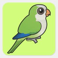 Birdorable Monk Parakeet Square Sticker
