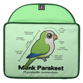 Monk Parakeet Statistics MacBook Pro Sleeves