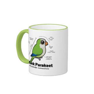 Monk Parakeet Statistics Ringer Coffee Mug