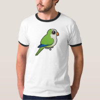 Birdorable Monk Parakeet Men's Basic Ringer T-Shirt