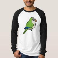 Birdorable Monk Parakeet Men's Canvas Long Sleeve Raglan T-Shirt