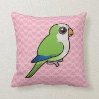Birdorable Monk Parakeet Cotton Throw Pillow