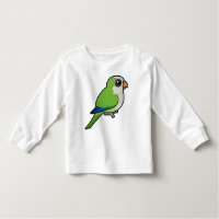 Birdorable Monk Parakeet Toddler Long Sleeve T-Shirt