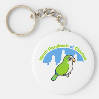 Monk Parakeets of Chicago Key Chain
